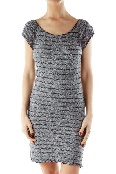 Gray Mottled Day Dress