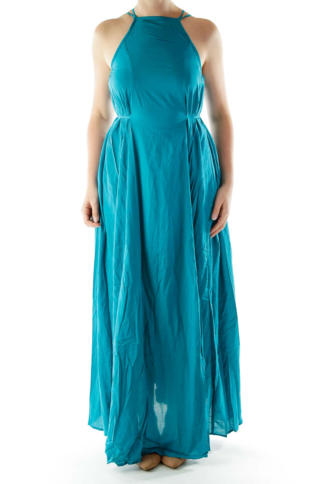37ffd9ffe7 Shop Turquoise Racerback Maxi Dress clothing and handbags at SilkRoll.  Trade with us!