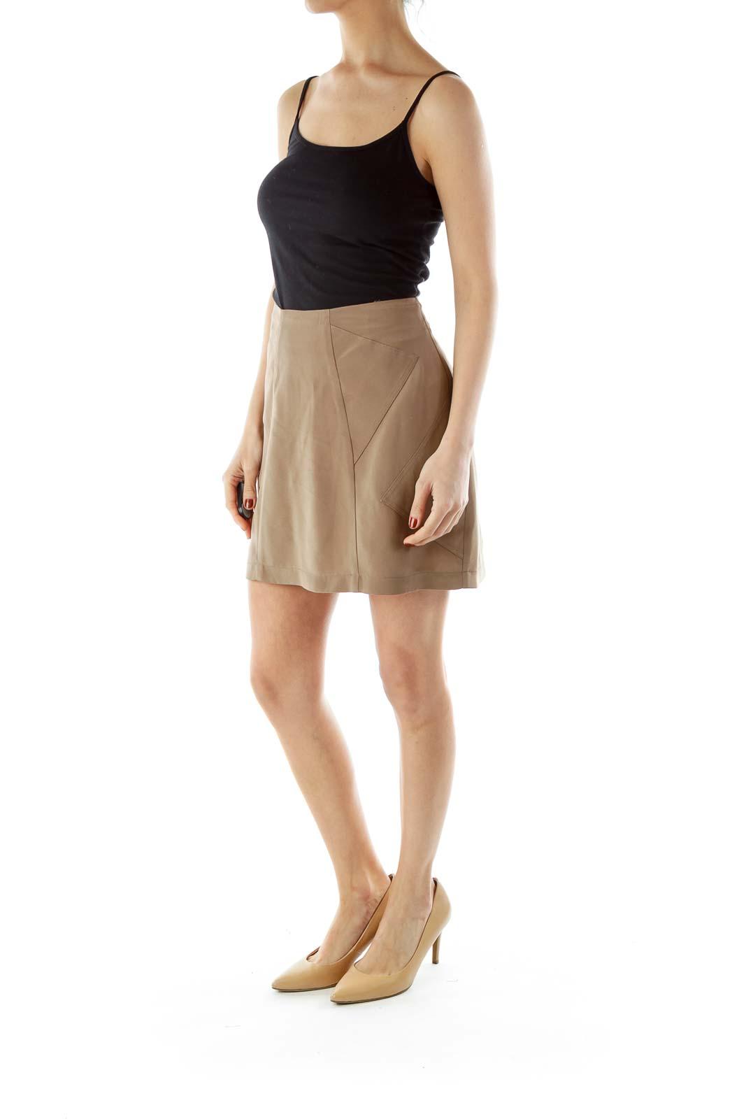 Green Zippered Mini Skirt