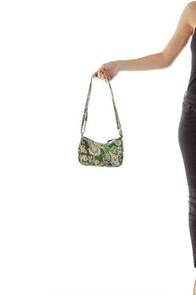 Green Paisley Crossbody Bag