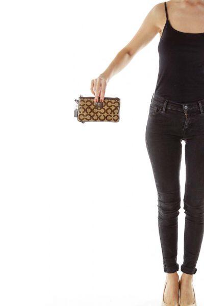 Brown Coach Print Wallet