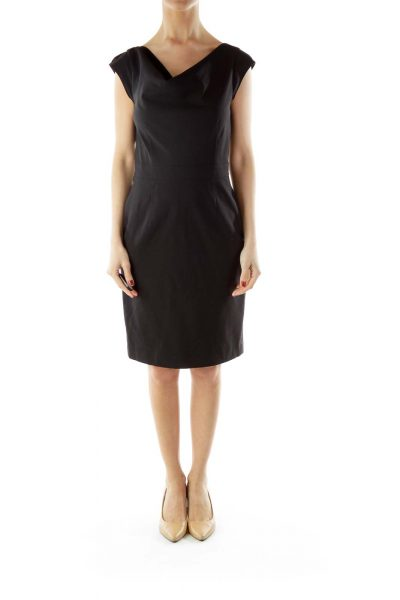 Black Sheath Work Dress