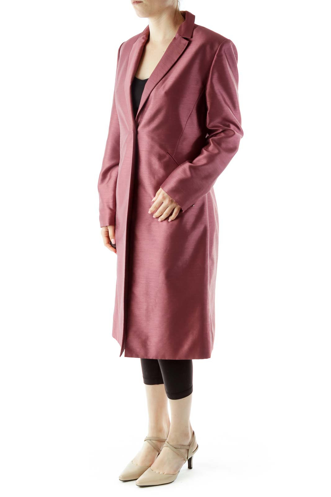 Mauve Long Blazer