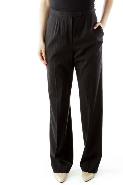 Black Pinstripe Slacks