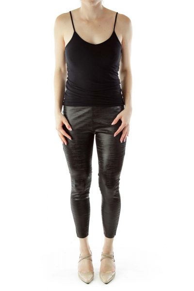 Black Metallic Legging