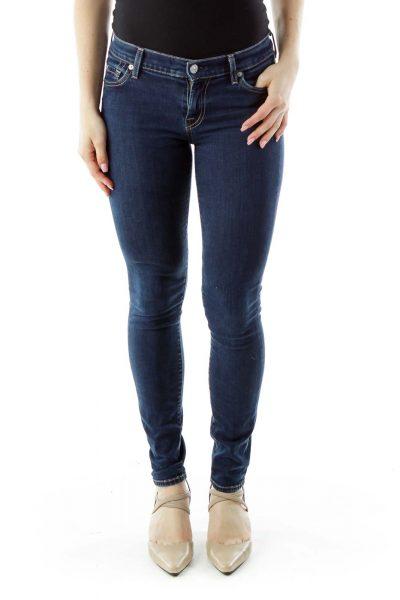 Navy Denim Skinny Jeans