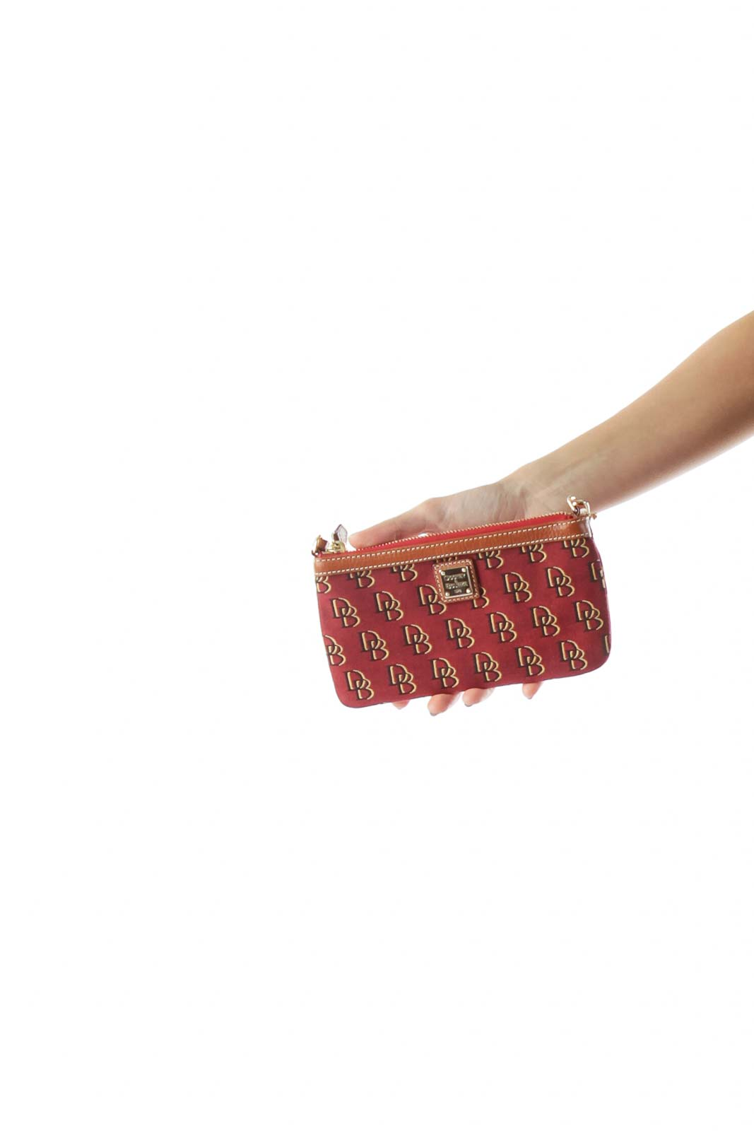 Red Printed Wristlet