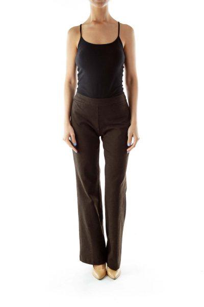 Black Brown Straight Leg Pants