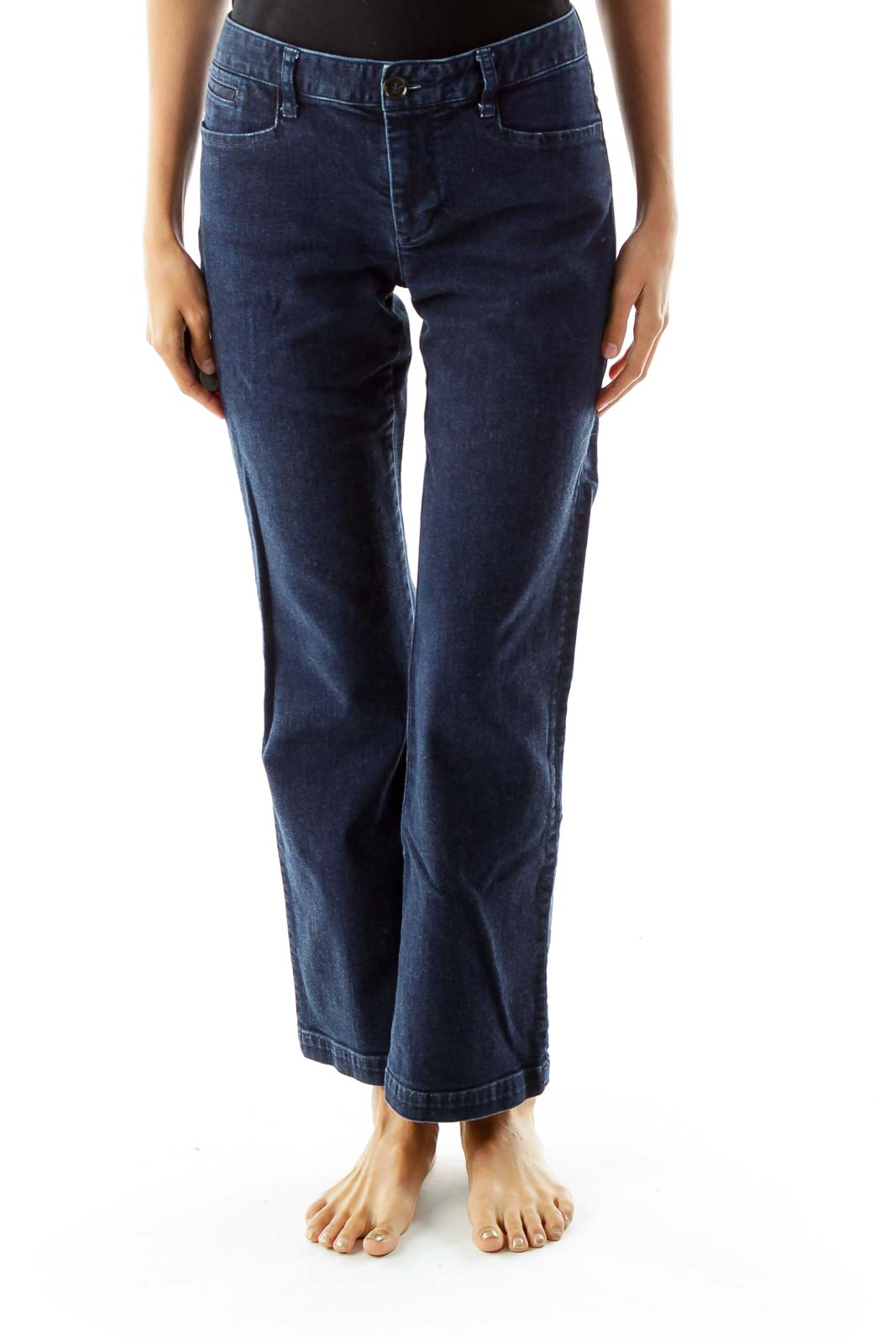 Blue Denim Wide Leg Jeans