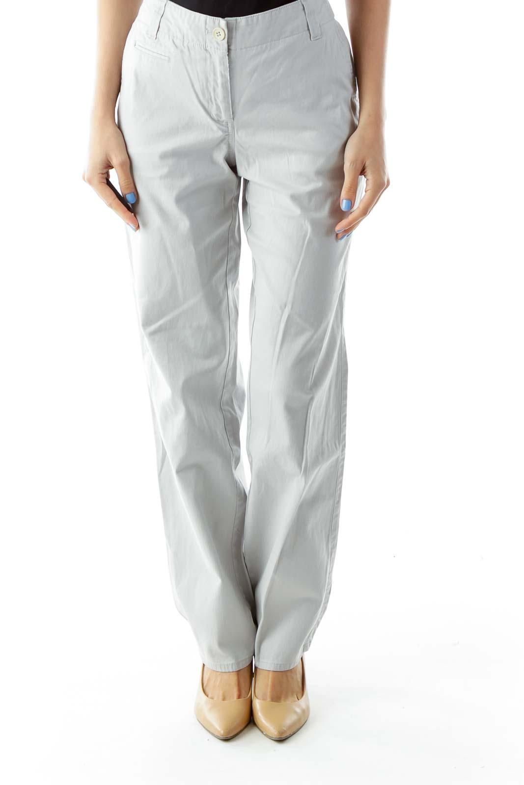 Gray Denim Boyfriend Jeans