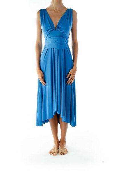 Blue Sleeveless Day Dress