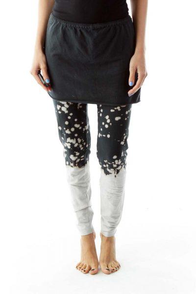 Navy White High-Waisted Yoga Pants