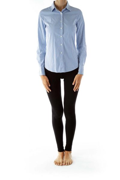 Blue White Pinstripe Shirt