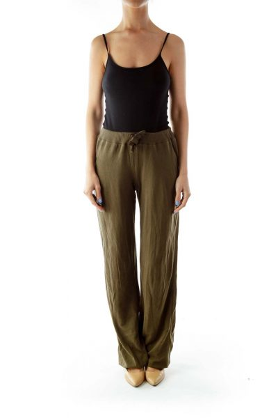 Army Green Tapered Pants