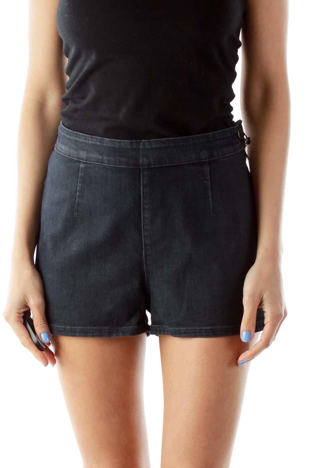 Denim High-Waisted Shorts