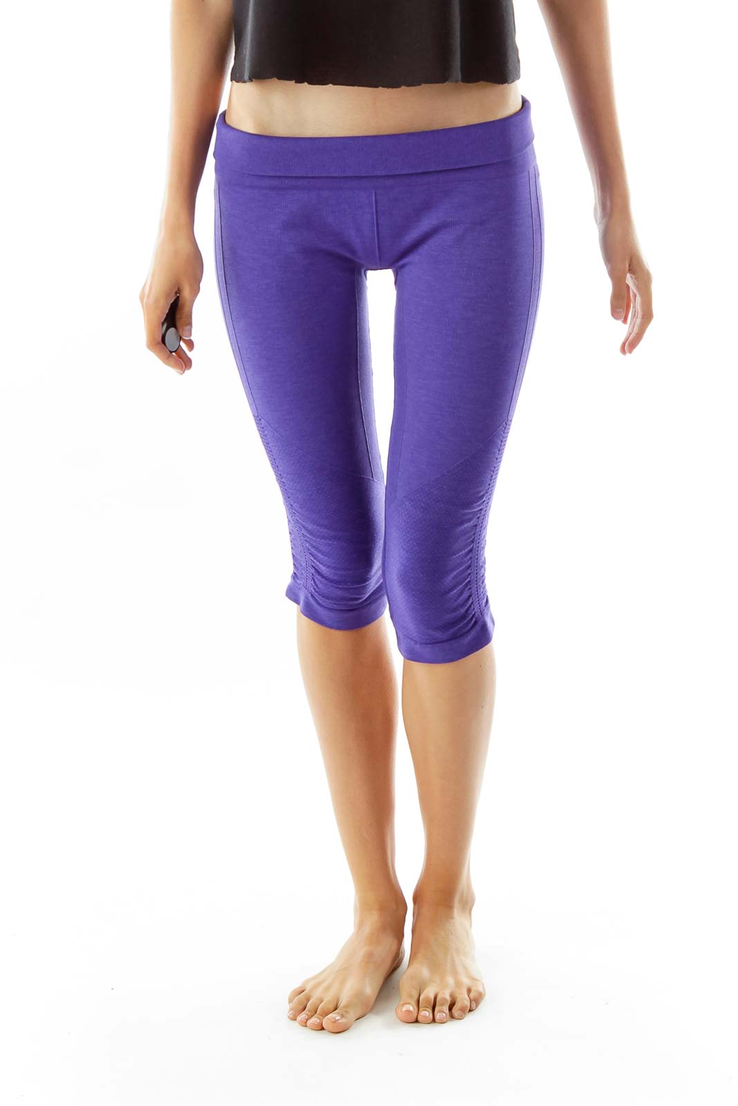 Purple Capri Sports Pants