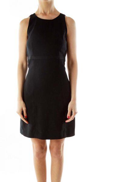 Black Sleeveless Work Dress