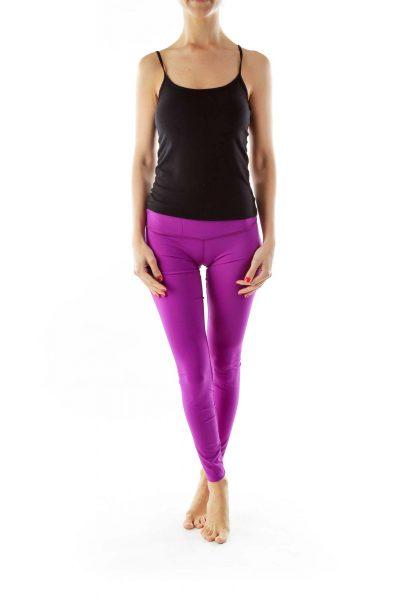 Purple Skinny Yoga Pants