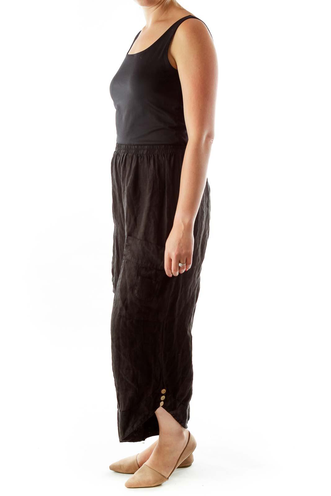Black Straight-Leg Pants