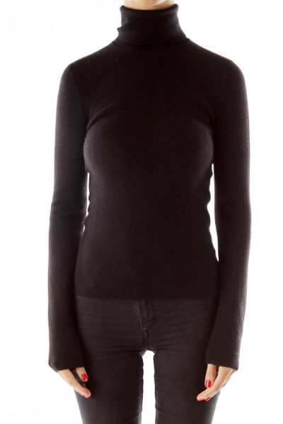 Black Cashmere Turtle Neck Sweater