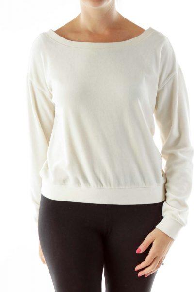Cream Velvet Sweatshirt