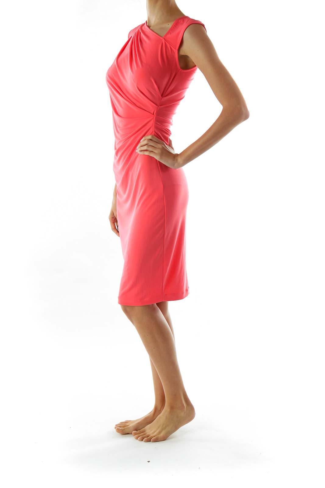 Pink Sleeveless Work Dress