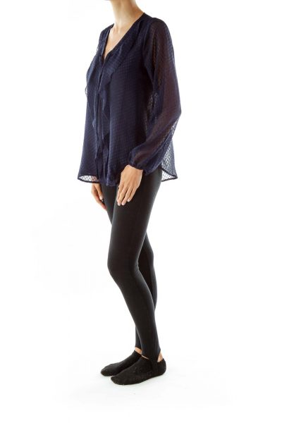 Navy Blue Shiney Tunic