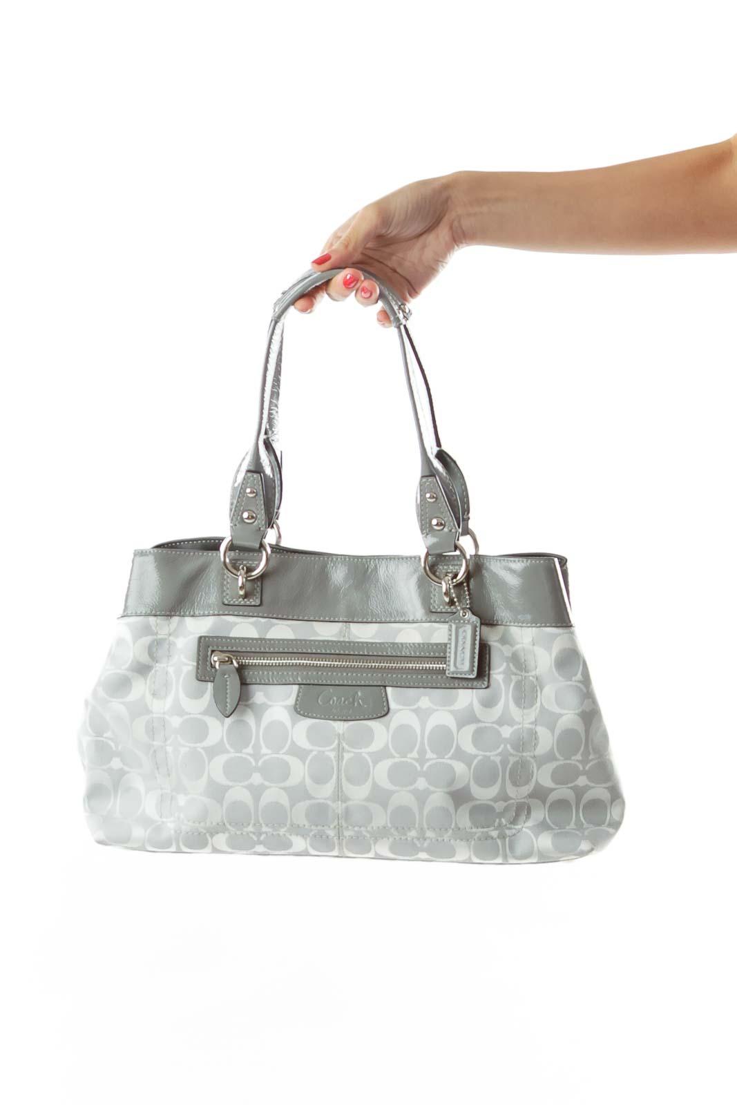 203a46c0 Shop Gray Coach Print Satchel clothing and handbags at SilkRoll ...