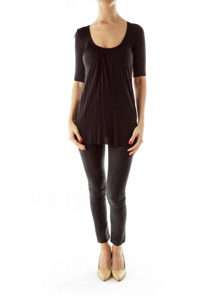 Black Layered Tunic W/ Back Details