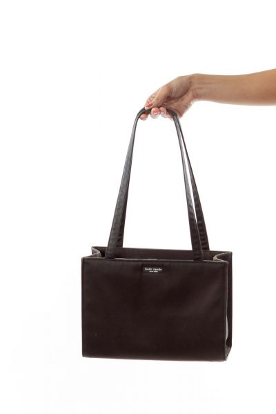 Black Zippered Satchel