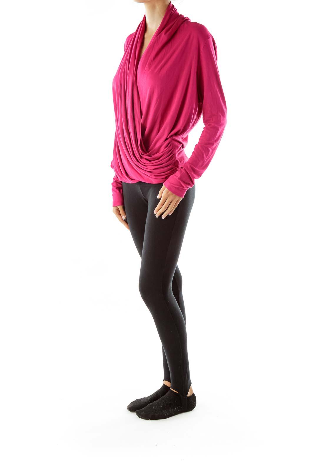 Pink Asymmetric Layered Tunic