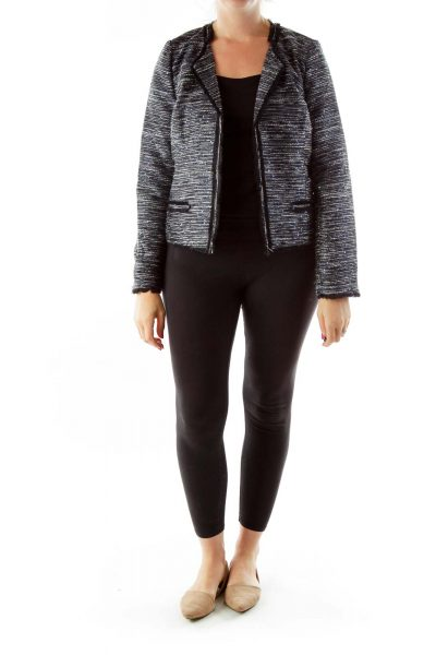 Black Metallic Tweed Blazer
