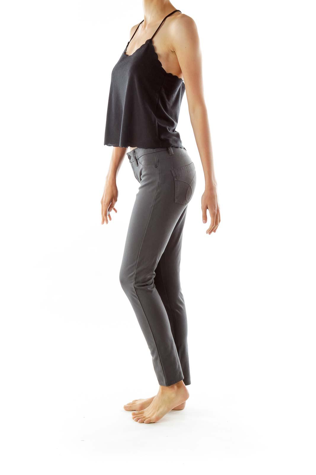 Gray Straight Leg Jeans