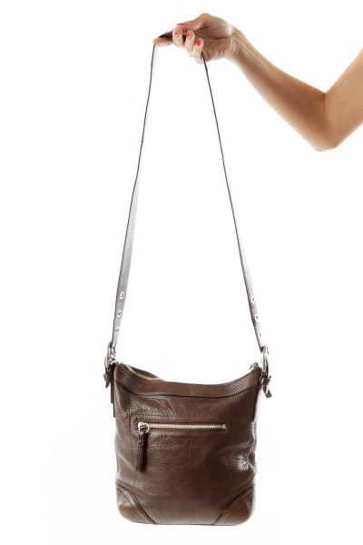 Brown Zippered Crossbody Bag