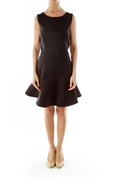 Black Fitted  Sheath Work Dress
