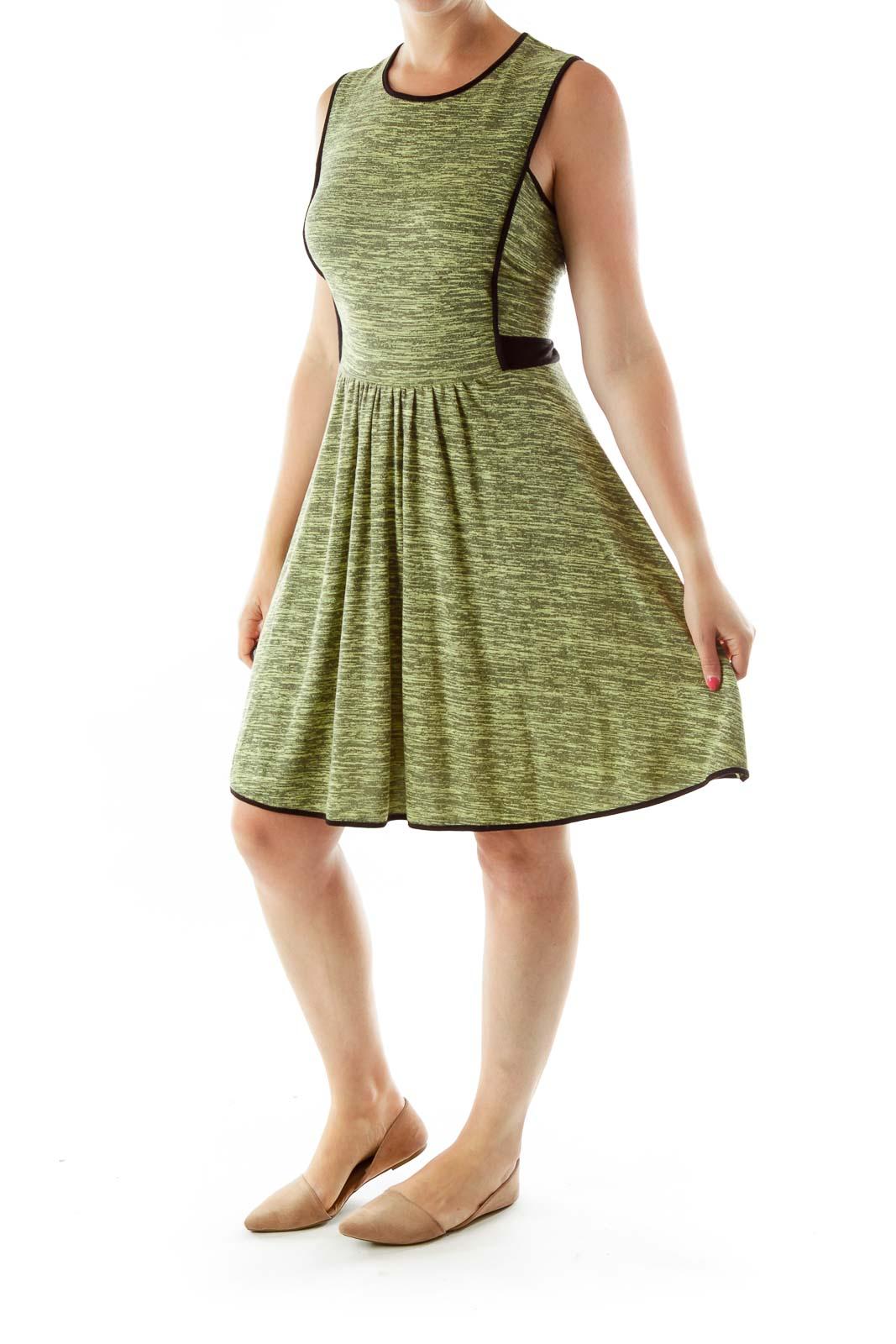 Green Sleeveless Work Dress