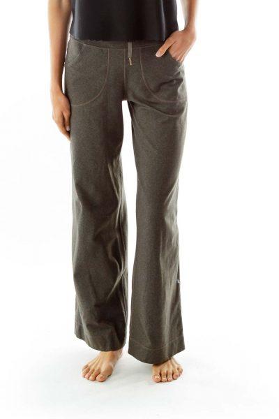 Green Pocketed Jogger Pants