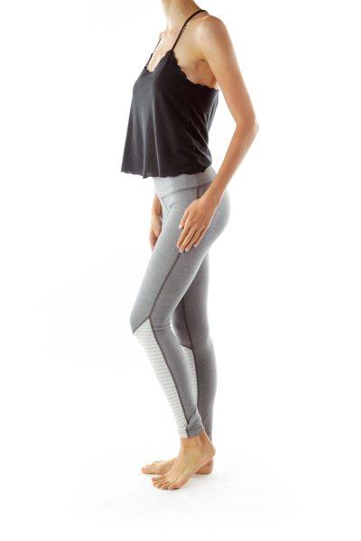 Gray Full Length Yoga Pants