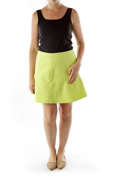 Yellow A-Line Skirt