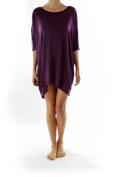 Purple T-Shirt Dress