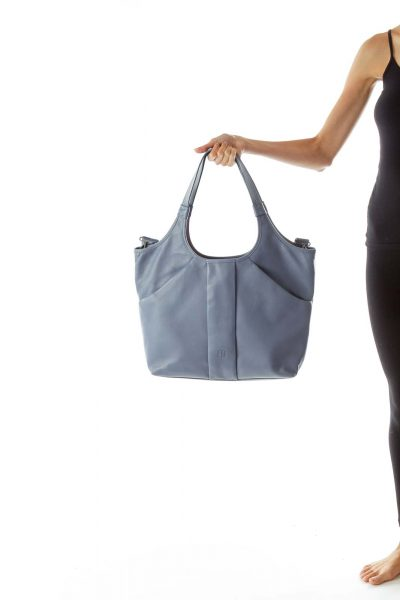 Blue Leather Satchel