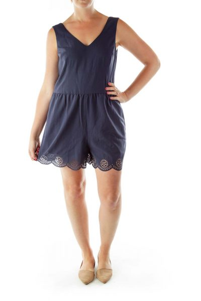 Navy Cut-out Detail Romper