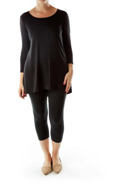 Black Round Neck Tunic