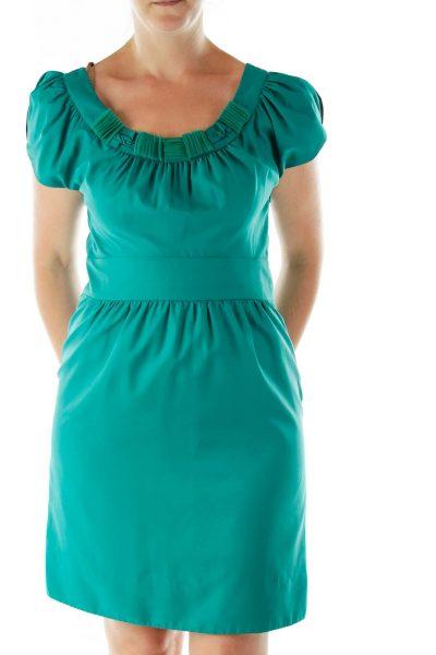 Green Empire Waist Cocktail Dress