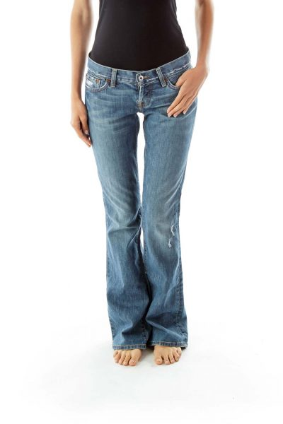 Destroyed Flared Jeans