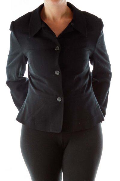 Black Single Breast Blazer