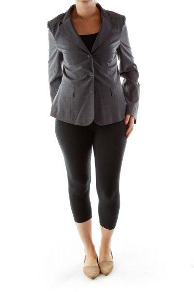 Gray Single-Breasted Blazer