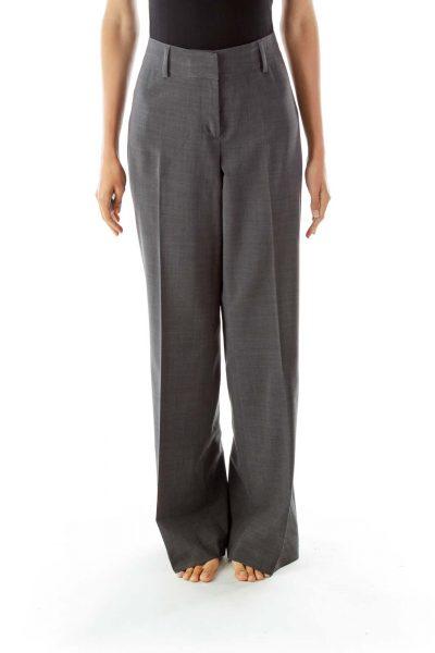 Gray Wide Leg Pants