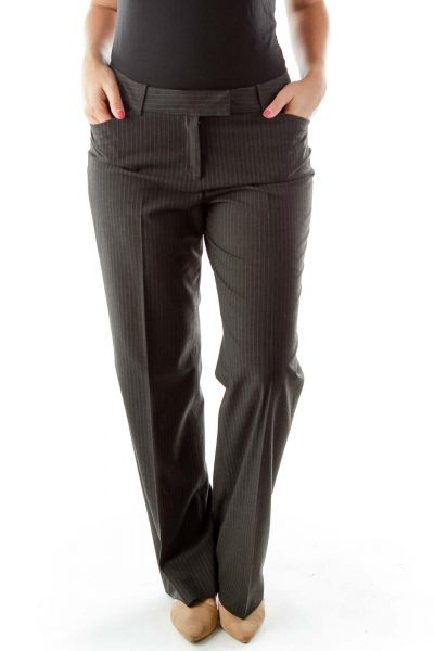 Gray Pinstripe Slacks