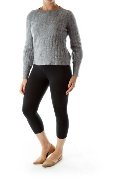 Gray Soft RoundNeck Wool Sweater